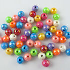 Mixed Shiny AB Round Ball Loose Acrylic Spacer Bead Charms 6mm 8mm 10mm 12mm DIY