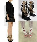 New Stylish Ladies Angel Wing Heels Open Toe Sandals Shoes #5
