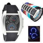 Unisex Speed Dial Style Rubber Band LED Digital Mens Lady Sport Wrist Watch