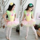 Girls Leotard Ballet Tutu Dancewear Party Dress 3-8Y Kids Flowers Skirt Costume