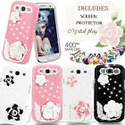 ROSE DIAMOND HARD CRYSTAL CASE COVER FOR SAMSUNG GALAXY S3 I9300 FREE FILM