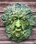 GREEN MAN WALL PLAQUE OAK KING PAGAN WICCA DECORATIVE GARDEN ORNAMENT PLAQUE