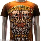 m105c Minute Mirth T-shirt Sz S M L XL Tattoo Skull Robot Cross Demon Street Men