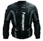 New Men Black Enduro Armor Jacket Motorcycle Touring Dual Sport Dirt Bike MX ATV