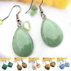 EH125-225 Natural Gemstone Tigereye Quartz Agate Malachite Rhodonite Earrings