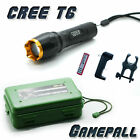 CREE T6 LED Torch Flashlight + cycling holder + Battery + Charger zoomable camp
