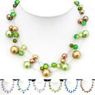SX059-064 1 Set Venetian Pearl Silk Thread Tibetan Necklace Bracelet Earrings