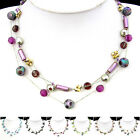SX065-070 1 Set Coloured Glaze Football Silk Thread Necklace Bracelet Earrings