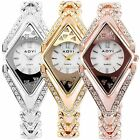 Mother of Pearl Dial Bling Crystal Ladies 3 Colors Bracelet Quartz Wrist Watch