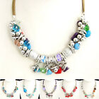 XB101-104 Crystal FIMO Coloured Glaze Shell Gemstone Flower Necklace Bracelet