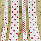 grosgrain ribbons supply wholesale bows red heart polka dot (9-22mm) 5yards