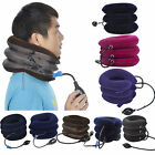 Relieve Cervical Tension - Neck Traction with Adjustable Straps - Brown, Blue
