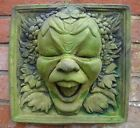 JESTER GREEN MAN LAUGHING MAN GREENMAN PAGAN WALL PLAQUE GARDEN ORNAMENT