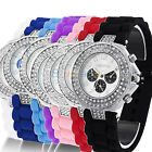 LADIES WOMENS GENEVA SILICONE CRYSTAL QUARTZ JELLY CANDY COLOR WRIST WATCH  BA2K