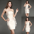 Hot Women's Stock Mini Champagne Ball Gown Party Evening Dresses