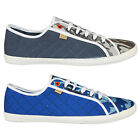 NEW MENS ROCK & REVIVAL R610026 DESIGNER LACE UP PLIMSOLL TRAINERS SIZES 7-11