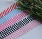 "One Roll Tartan Plaid Ribbon Bows Appliques Sewing Crafts Upick 3/8"" or 5/8"" 50Y"