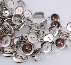 50/100/300pcs Upick 14mm Silver Metal Brooch DIY Clips Appliques Fittings JAE004