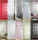 Voile Curtain Panels, Slot Top Curtain, Patterned Voiles, LOW PRICES