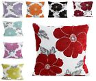 "POPPY LUXURY CHENILLE FLORAL CUSHION COVER 18"" x 18"" ALL COLOURS"