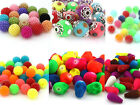 New Round Mixed ABS Acrylic Glass Skull Drop Head Craft DIY Spacer Beads Pick