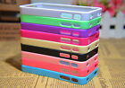Cute 1X Colorful Trim Back High Clear Hard Cover Case for iPhone 4G 4S 9 Colors
