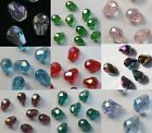 100pcs Glass Crystal Teardrop Spacer Beads 8x6mm Various AB Color U pick
