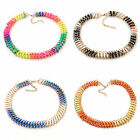 Women's Necklace Candy 4Colors Punk Alloy Metal Chain String Gold Adjustable