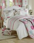 PETTICOAT DREAMS' n 'DRAPES PREMIUM DUVET COVER QUILT SET PINK WHITE