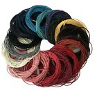 100% Real Genuine Leather Cord - 1mm or 2mm – Choice of Colours and Length (J)