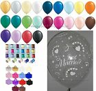Clear Just Married & Heart Helium Balloons Ribbon Weights Wedding Decoration Kit