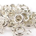 50/250pcs Vintage Charms Necklace Copper Lobster Clasps Fit Jewelry DIY 3 Colors