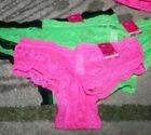 CANDIE'S LACE CHEEKY PANTIES SIZES S - XL ~ BRIGHT NEON COLOURS GREEN PINK BLACK