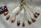 CUTE RUSSIAN MATRYOSHKA DOLL SHAPED WOODEN ASSORTED PENDANTS/CHOOSE YOUR DESIGN