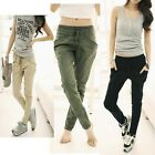 Womens Fashion Loose Wild Stretch Casual Long Trousers Slim Feet Harem Pants