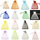 100 LARGE QUALITY ORGANZA COLORS Pouch Wedding Favour Bags Gift 7x 9/9*12cm Pick
