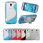 S Line TPU Gel Silicone Case Cover Skin w/Hard Stand For Samsung Galaxy S4 i9500