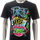 dd41b Sz M L DD T-shirt Tattoo Street Gangs Drink Beverage Mouth Design Rock mma