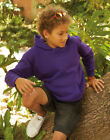 Kids Fruit Of The Loom Hooded Sweatshirt, 10 hoodies Colours