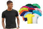 Mens Russel Slim Fit Crew Neck Short Sleeve T-Shirt, 16 tshirt Colours