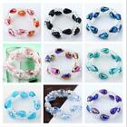 Hot Lady's Shiny Horse Eye Faceted Crystal Glass Beads Stretchy Strand Bracelet