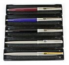 Inoxcrom 77 Ballpoint Pens. 3 colours & 2 Steel Finishes. Parker 45 Type. Boxed