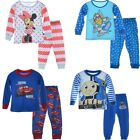 Kids Clothes Boys Girls Sleepwear Pajama Top+Pants Mcqueen Car 2Pcs 2-7Y Outfits