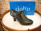 Rialto OX Black Lace-up Wingtip Oxford Pumps NEW