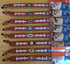 NFL Classic Football Bracelet Wristband Genuine Leather ( All Teams ) GameWear $6.98 USD on eBay