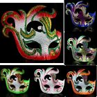 MASQUERADE Party Mask Italian-style Half face Phoenix Painted Mask Choose Color