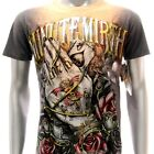 m102c Minute Mirth T-shirt Sz S M L XL Tattoo Rock Skull Rose Ghost Card Indie