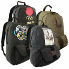 High Quality Olympic Games Vintage Canvas Rucksack Bag Backpack Daysac Travel