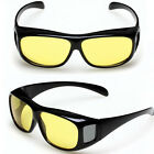 Fashion Unisex HD Night Vision Driving Wrap Around Sunglasses,Yellow Lens