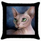 Throw Pillow Case Cushion Case Cat 578 Sphynx Sphinx from art painting L.Dumas